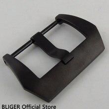 BLIGER 1/шт. 18 мм ширина черная Пряжка из нержавеющей стали черный PVD кожаный ремешок Пряжка BU9