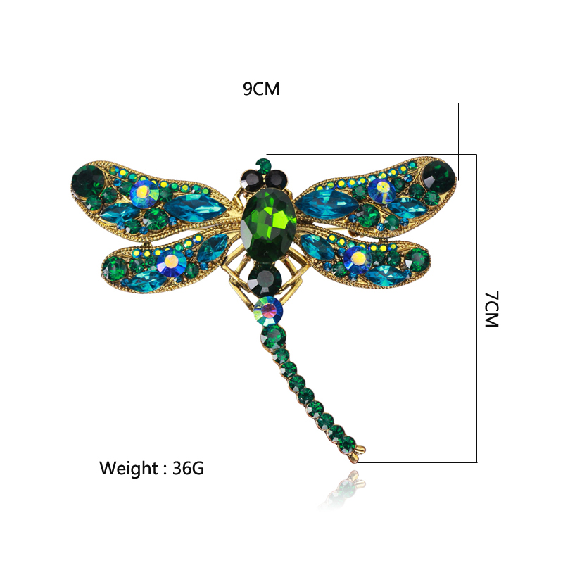 Ztech Dragonfly Shape Vintage Brooches with Pendant Pins for Women Retro Turkey Ethnic Green Blue Color Jewelry Wholesale in Brooches from Jewelry Accessories