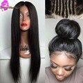7A Cabelo Humano Rendas Frente Perucas Mulheres Negras Cheia Do Laço Brasileiro peruca Com o Cabelo Do Bebê Brasileiro Virgem Parte Dianteira Do Laço Perucas Com O Bebê cabelo