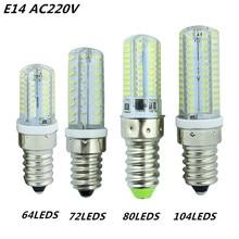 6 Вт 7 Вт 8 Вт 9 Вт Светодиодный светильник E14 SMD 3014 AC220V светодиодный кукурузная осветительная лампочка 64 светодиодный s 72 светодиодный s 80 светодиодный s 104 светодиодный s, теплый белый/белый светодиодный свет лампы кукурузы
