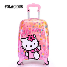 16 inch 2017 new ABS+PC cartoon child suitcase/free shipping high quality cartoon Luggage /Boy and Girl Cartoon trolley case box