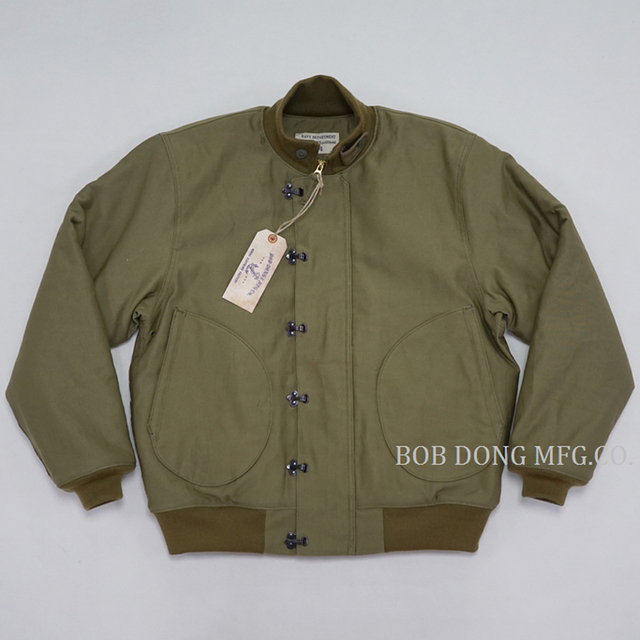 BOB DONG Early Time USN Front Hook Deck Jacket Winter Mens Warm Military Uniform