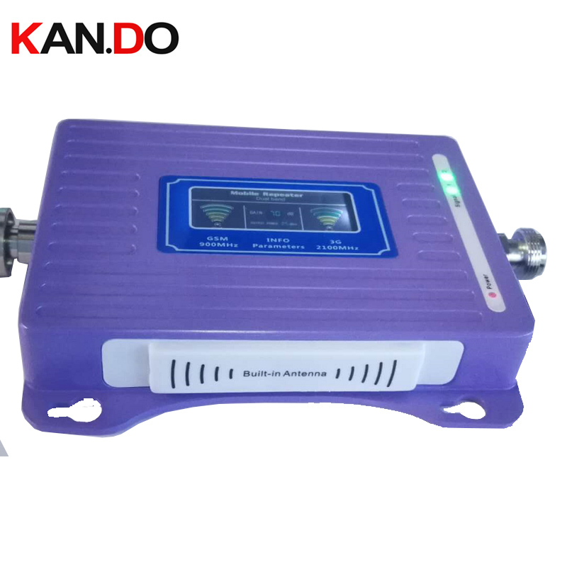 Built-in Antenna 2G+3G Repeater New Model LCD Display Dual Bands GSM 3g Booster Repeater DCS 900 2100mhz 3g Booster
