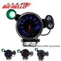 80 мм Тахометр для автомобиля  шаговый двигатель 0-11000 об/мин  тахометр  автомобильный измеритель  красный/синий/белый светодиод со сменным св...