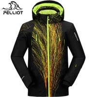 PELLIOT Ski Jacket Men Winter Waterproof Outdoor Snowboard Snow Jacket Super Warm Breathable Skiing Snowboarding Hooded Jackets