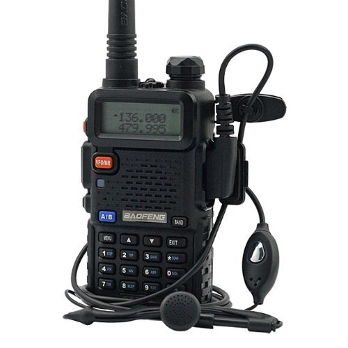 Original BaoFeng UV-5R walkie taklie transceiver 5W VHF UHF Dual Band 136-174/<font><b>400</b></font>-520 <font><b>MHz</b></font> Ham CB FM two way radio Free earpiece image