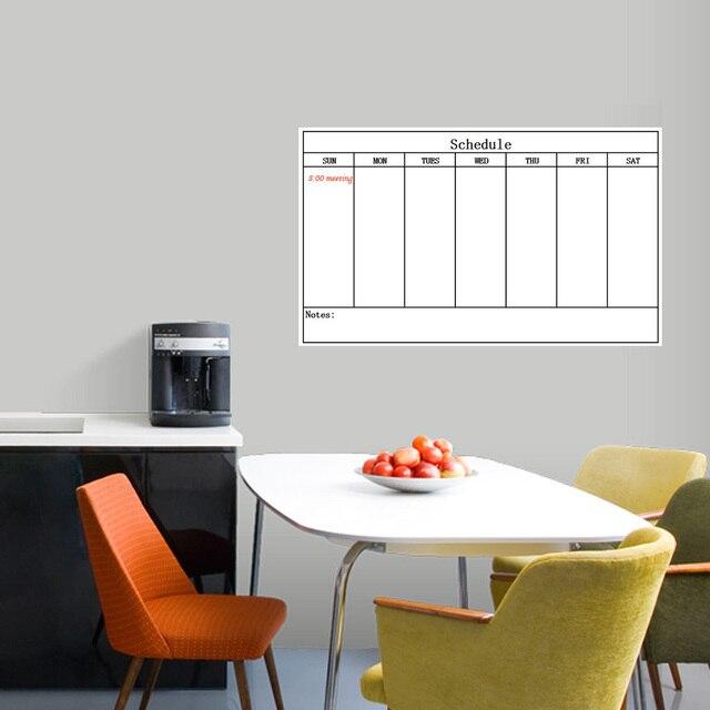60 cm x 80 cm Semana Planificador Meses Programa de Plan de Hoja Grande Mojado Seco Borrar Marcador Borrable Borrador Calcomanías Hogar oficina Suave Suave Nuevo