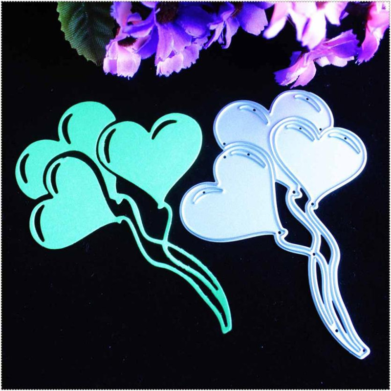 YLCD728 Love Balloon Metal Cutting Dies For Scrapbooking Stencils DIY Album Paper Cards Decoration Embossing Folder Die Cutter