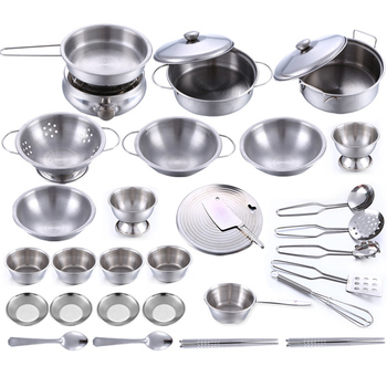 16 25 32 Unids De Acero Inoxidable Para Ninos Juguetes De Cocina