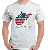 West Virginia State Pride American Flag Patriotic Gift Idea T Shirt Tee