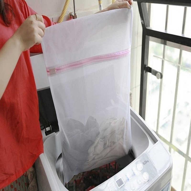 1 PCS Meias Sutiã Cueca Lavanderia Saco de Roupa de Qualidade Da Moda Zíper Saco De Rede Rede de Proteção Acessórios de Lavanderia