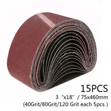 10 Pcs 330x10mm Blue Aluminium Oxide Sanding Paper 40-120 Grit Polishing Sandpaper Grinding Pad Disc Abrasive Belts For Sander Tools