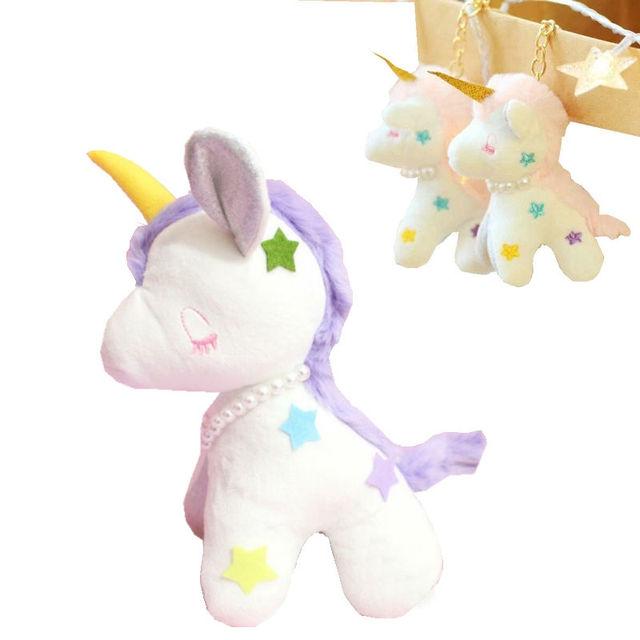 Ins unicor quente de pelúcia brinquedos boneca de pelúcia grandes asas de unicornio chave charme bonito mochila animais saco acessórios chaveiro brinquedos para menina