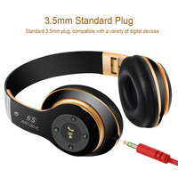 Stereo Handsfree Headfone Casque Audio Bluetooth Headset Earphone Cordless Wireless Headphone For Computer PC Aux Head