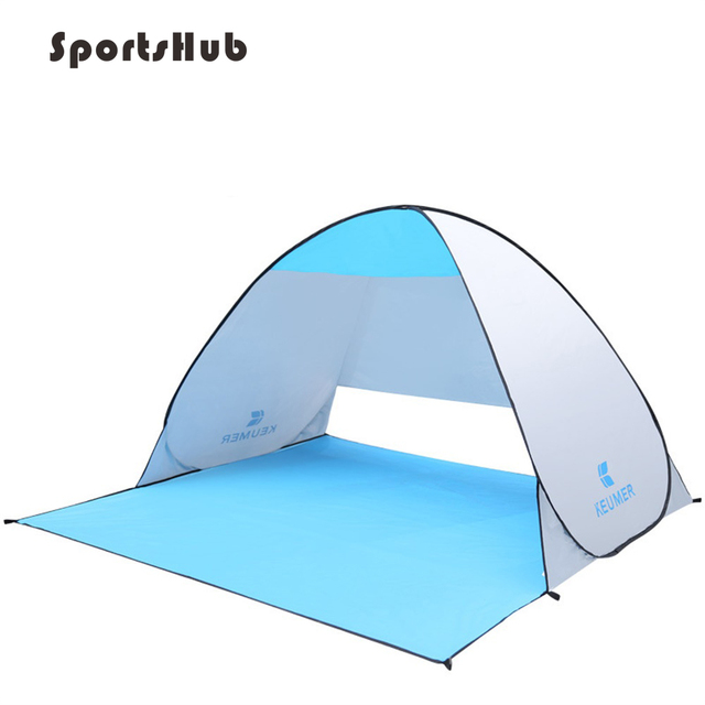 Automatic Camping Ultralight Tent Beach Tent 2 Persons Tent Instant Pop Up Open Anti UV Awning