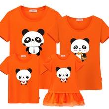 All Family Cute Panda Printed T-Shirts