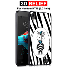 GodGift Case For Homtom HT16 Luxury 3D Relief Cartoon Protective Cover HT 16 Phone Shell Silicone
