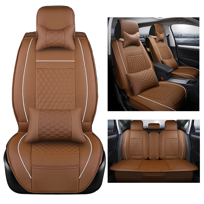 Leather Car Seat Cover Set for Lexus rx350 rx330 rx300 rx400h rx450h Cover for Car Seat Supports Black Seats Protector