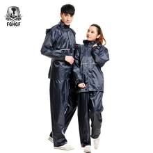 FGHGF High Quality Bicycle Motorcycle Raincoat Outdoor Split Rainproof Rain Coat Jacket Gear Impermeable Poncho Suit Men Women
