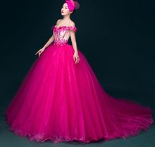 hot pink embroidery court medieval dress Renaissance gown Sissi princess dress Victorian Gothic/Marie Antoinett Belle Ball