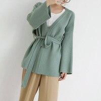 Rlyaeiz England Style Sweater Women 2018 Autumn Casual Knitting Cardigan pull femme Female Loose Cardigans Sweaters With Sashes