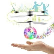 Светящаяся игрушка Радиоуправляемый вертолет-мяч Радиоуправляемый симулятор полета мини Heli Дрон светящийся самолет вертолет пульт дистанционного управления светодиодный Рождественские игрушки для Childre