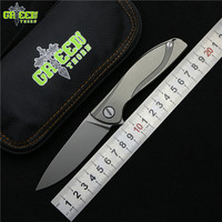 Green thorn NeOn Lite M390 MRBS TC4 titanium handle camping hunting outdoors Utility Fruit Knives pocket folding knife EDC tools