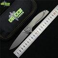Verde espina de neón Lite M390 MRBS TC4 titanium manejar camping caza al aire libre de cuchillos de fruta cuchillo plegable de bolsillo herramientas EDC