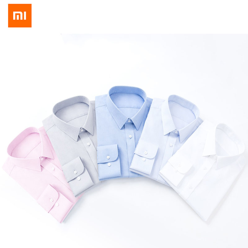 Xiaomi 90 Fun Men Shirt Non ironing Long Sleeve Soft Cotton Slim Fit Casual Fashion Businessman