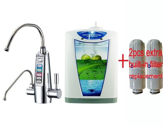 Freeship undersink kangen water tyent ionizer hydrogen water electrolyz JapanTechTaiwan factry built in NSF filter 2extra