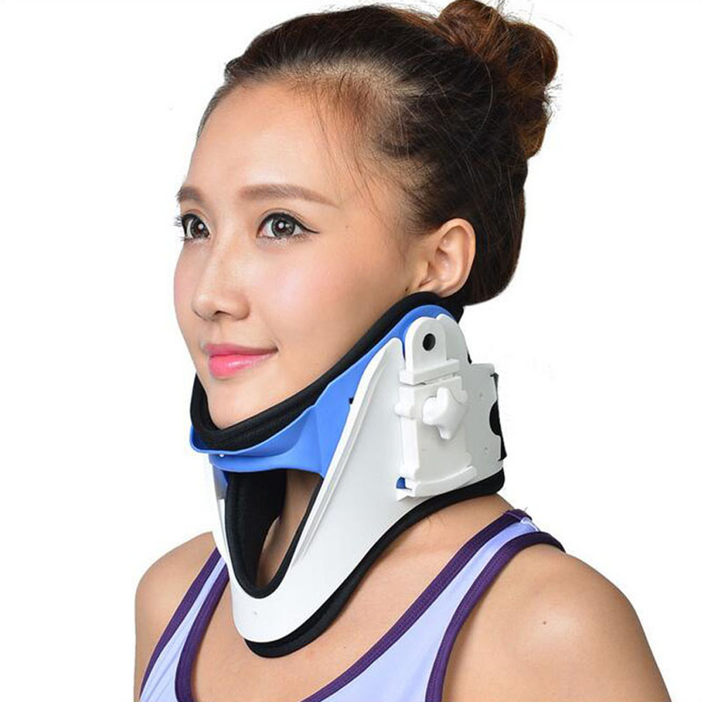 Medical Cervical Vertebra Tractor Neck Brace Support Neck Collar Correct Adjustable Traction Treatment Posture Height OBER NO 16