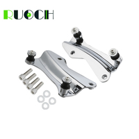 RUOCH 4 Point Docking Hardware Sissy Bar Backrest Luggage Rack for Harley Touring Road King FLHR Street Glide FLHX FLTRX 14 19
