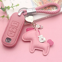 Lovely lady style Genuine Leather Car Key Cover Case Bag for Mazda 2 3 6 CX-5 CX-4 CX-3 CX-8 ATENZA AXELA Smart