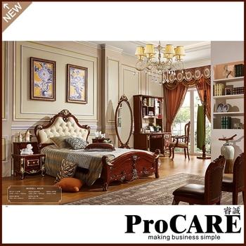Europäischen Luxus Klassische Massivholz Hohe Bett Luxus Villa