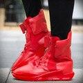 Nueva Primavera y el Otoño de Los Hombres de tendencia Zapatos Casuales Planos de La Manera de Bota Zapatos Para Caminar Zapatos con cordones Respirable No Zapato antideslizante de Alta Calidad