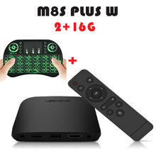 Android tv box 2018 MECOOL M8S плюс W air mouse дополнительно 2 + 16 г/1 + 8 г Amlogic S905W Quad core android 7,1 4 К Сталкер Media Player(China)