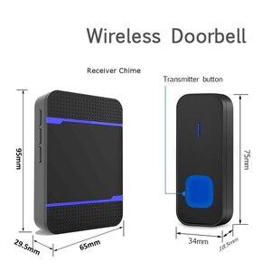 Image 4 - Беспроводной дверной звонок DAYTECH с дистанционным управлением, беспроводной дверной звонок 55 мелодий звонка, домашний датчик, водонепроницаемый IP55 EU/US/UK штекер