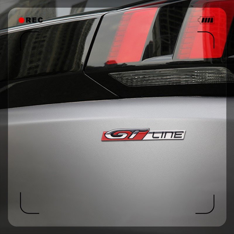 Para Peugeot 208 308 508 3008 5008 Linha GT Acessórios Exterior Emblema Lateral Do Carro Adesivos Adesivo Decoração Guarnição Tronco Traseiro