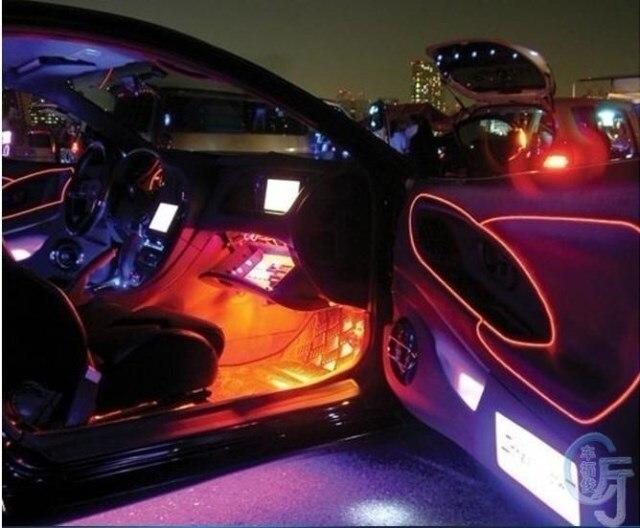 3 teile/los AUTO Flexibles Neonlicht 3 Mt EL draht elektrolumines ...