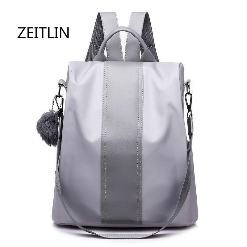 ZEITLIN Women Backpacks Waterproof Lady Travel Backpack Multi-functional Female Oxford Bagpack Girl Schoolbag Rucksack M0181