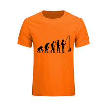 950bfdb963d0a Evolution of Fishinger Funny Men s T Shirt Birthday Gift For Dad Him fast  free drop shipping. 10 Colors Available