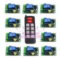 220 v 230 v RF 1CH channal interruptor de luz/lâmpada, ON/OFF maneiras de ajustar a saída interruptor remoto sem fio 10 receptores Por Conjunto