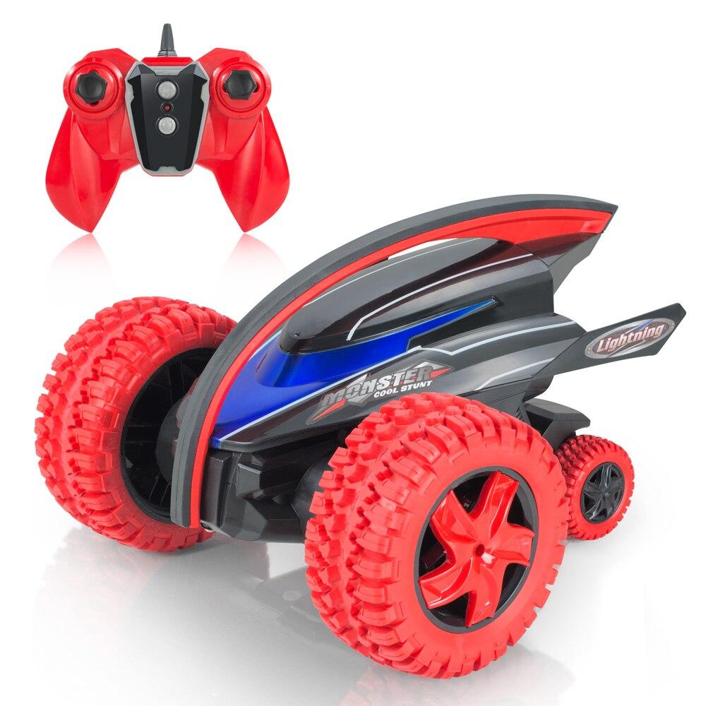 2019 meilleur vendeur 2.4g jouet à distance diable poisson Gyro rotation RC Stunt 360 voiture folle pour enfants voitures télécommandées