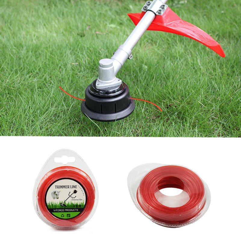 2.4mm*15m Grass Cut Strimmer Line Round Nylon Cord Wire String For Grass Trimmer