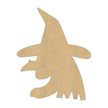 10pcs laser cut wood wooden ugly witch shape diy craft gift tag happy halloween decorations