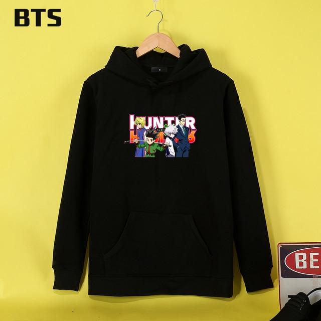 BTS Hunter X Hunter Hoodies Mulheres Ladies Cool Sweatshirt Women Plus Size  Hipster Cute Creative Women Hoodies Sweatshirts 49d50e73bf97