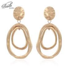 Badu Irregular Hollow Metal Earring Women Vintage Gold Silver Dangle Drop Earrings Christmas Fashion Jewelry Wholesale