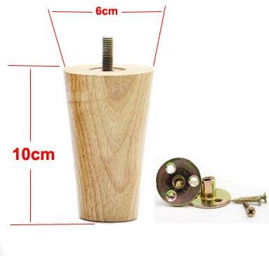 4Pieces/Lot Height:10CM  Diameter:4-6cm   Solid Wood Sofa Cupboard Legs Feet Foot