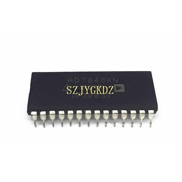 Ad7846 dac 1-ch Resistor-string 16-bit 28-pin Pdip Ic Chip Ad7846kn