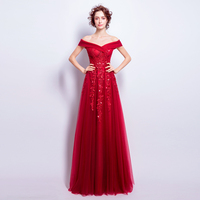 LYFZOUS Sexy Slash Neck Long Party Dress Women Beading Sequins Embroidery Strapless Maxi Dresses Slim Fit